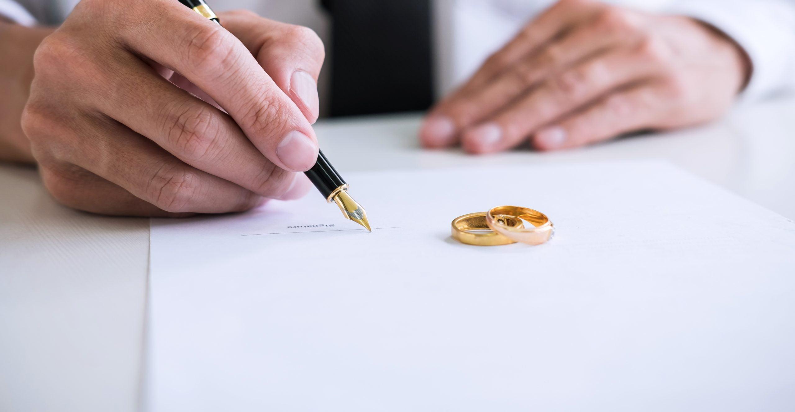 Rozwód bez orzeczenia o winie - obrączki